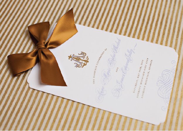 Custom Monogram Wedding Program
