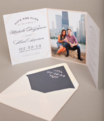 Blush Gray Save The Date