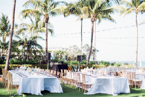 Wedding Reception by Ocean