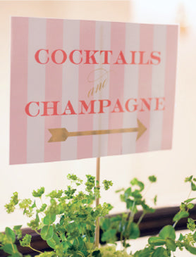 Coral Gold Wedding Sign