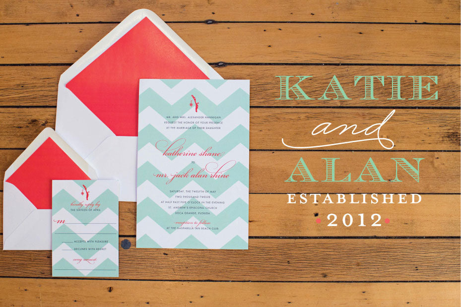 Southern Beach Wedding Invitation