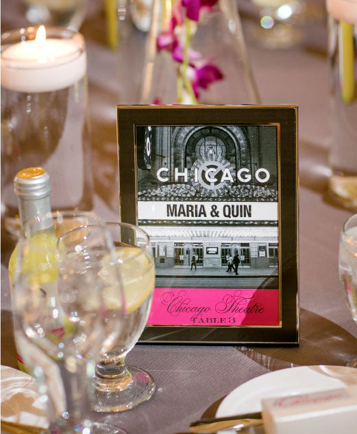 Chicago Theatre Table Number