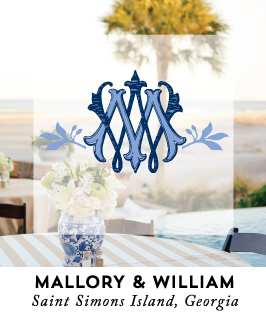 Preppy Blue and White Wedding