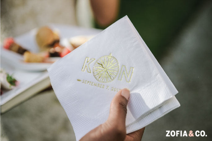 Cocktail Napkin Wedding Monogram