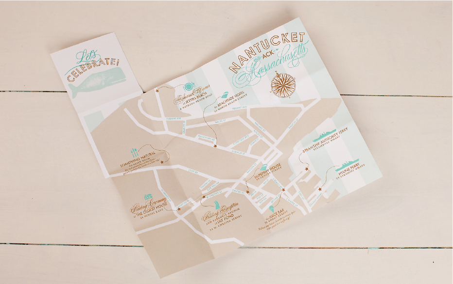 Nico and LaLa | Custom Nantucket Wedding Map
