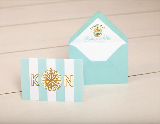 Nico and LaLa | Wedding Thank You Stationery