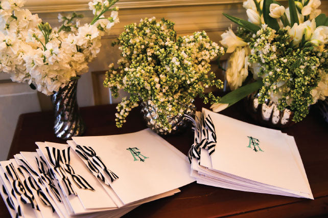 Custom Monogram Wedding Programs
