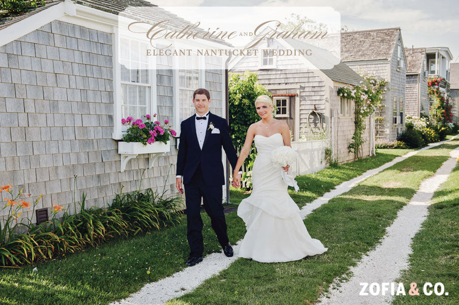 Elegant Nantucket Wedding Bride Groom