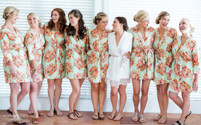 Bridesmaids Floral Robes