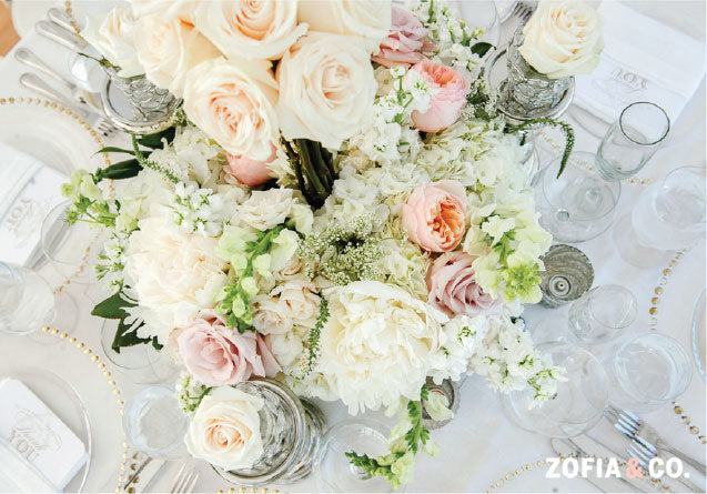 Neutral Flowers Nantucket Reception