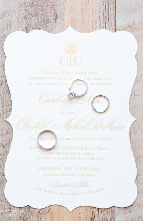 Captiva Island Wedding Invitation