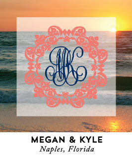 Monogrammed Naples Beach Wedding
