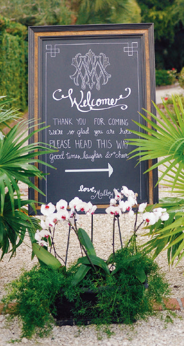 Monogrammed Southern Wedding Reception