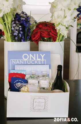 Nantucket Destination Wedding Welcome Box