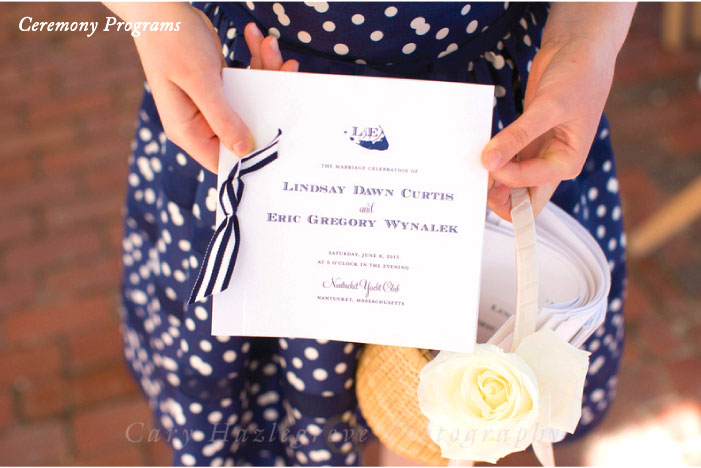 Ceremony Program Nantucket Wedding