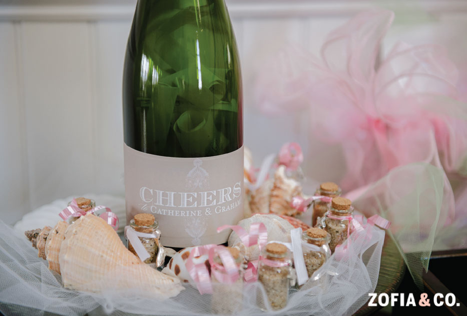 Nantucket Wedding Champagne Label