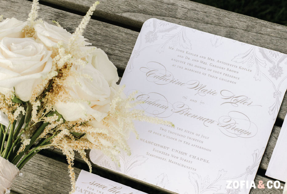 Square Nantucket Wedding Invitation