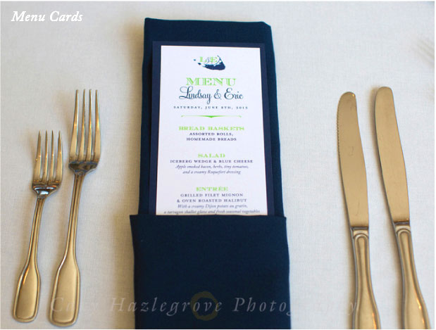 Monogrammed Nantucket Reception Menu