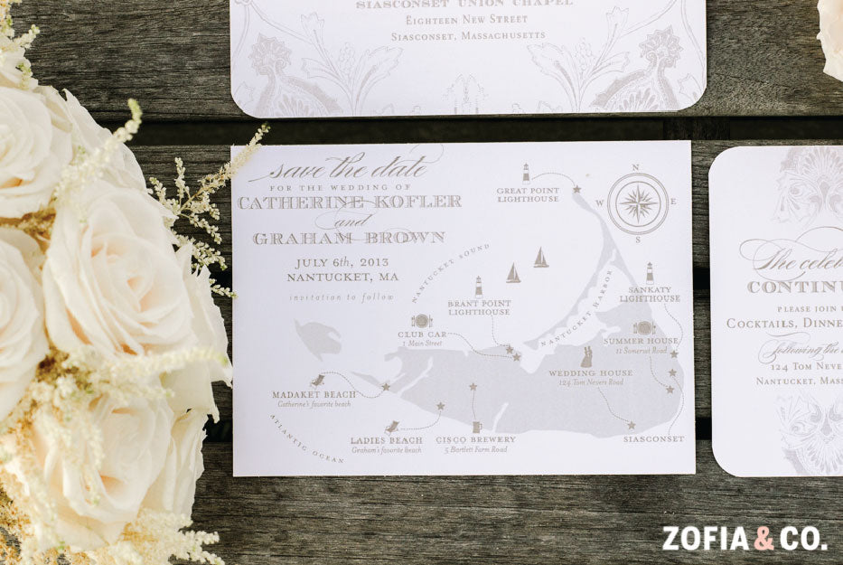 Custom Nantucket Wedding Save the Date