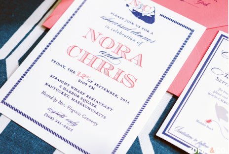 Nantucket Rehearsal Dinner Invitation