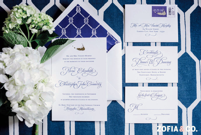 Nantucket Hotel Wedding Invitation