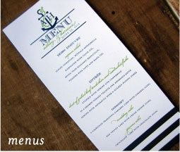 Nautical Menu Card