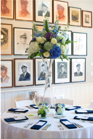 Blue and White Nantucket Wedding