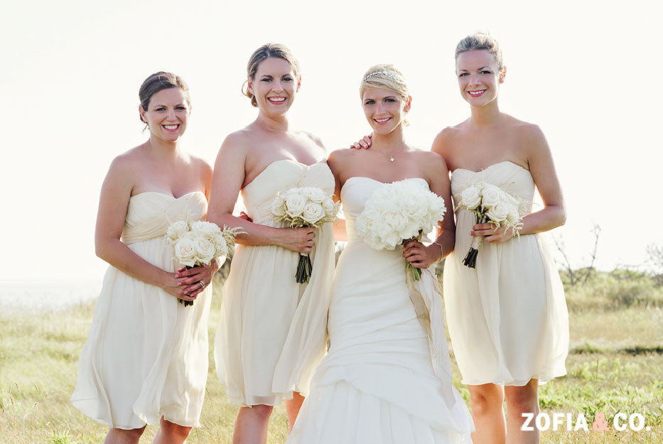 Neutral Beach Wedding Party