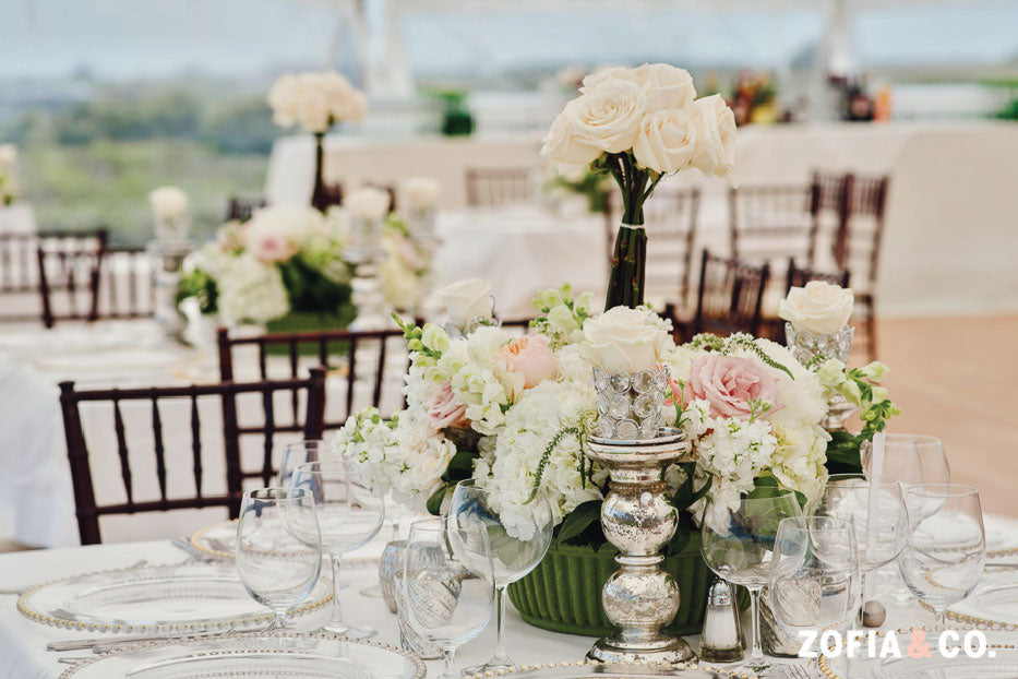 Elegant Neutral Wedding Reception