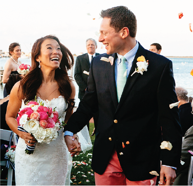 Preppy Wedding Couple Nantucket