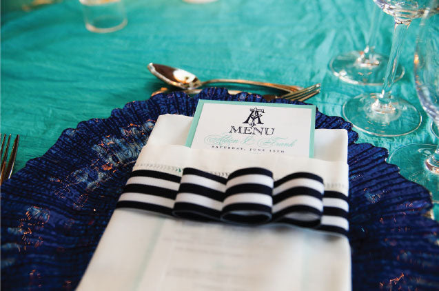 Palm Beach Wedding Menus
