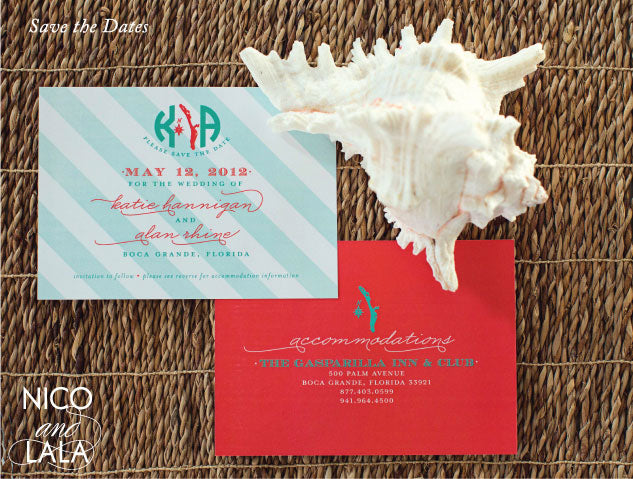 Save the Date Beach Wedding