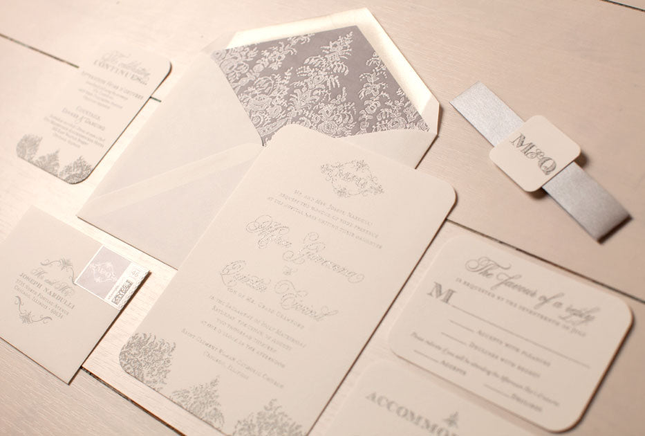 Custom Chicago Wedding Invitation