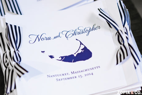 Nantucket Wedding Program