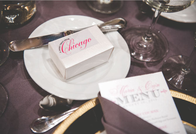 Custom Chicago Wedding Reception Menu