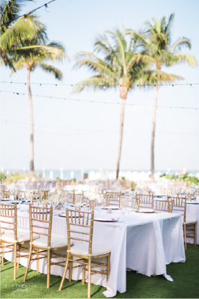 Preppy Florida Wedding Reception