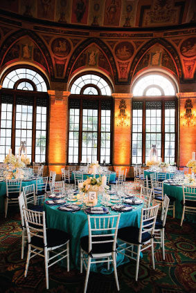 Turquoise and Navy Wedding | The Breakers