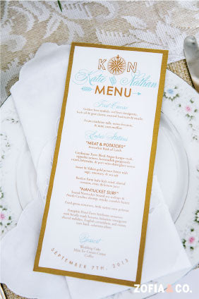 Wedding Menu Nantucket