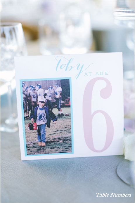 Wedding Table Number Wine Country