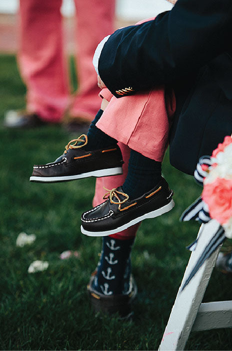 Preppy Nautical Groom Sperry's