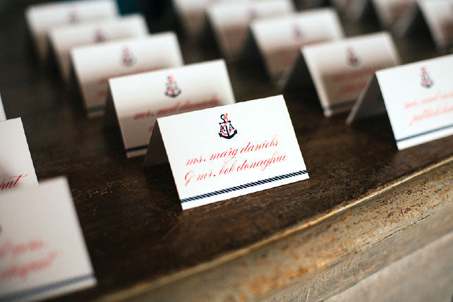 Anchor Nautical Escort Card