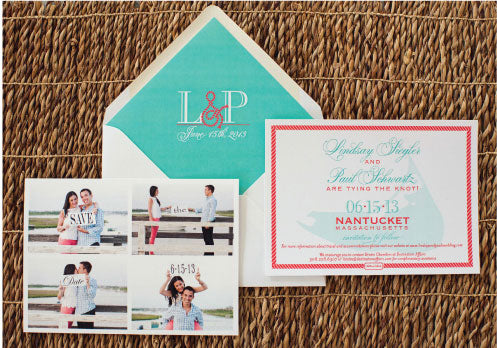 Save the Date Nantucket Wedding