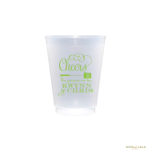 Baby Q Baby Shower Shatterproof Cups