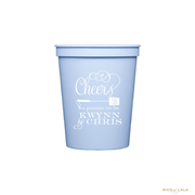 BABY Q BABY SHOWER STADIUM CUPS