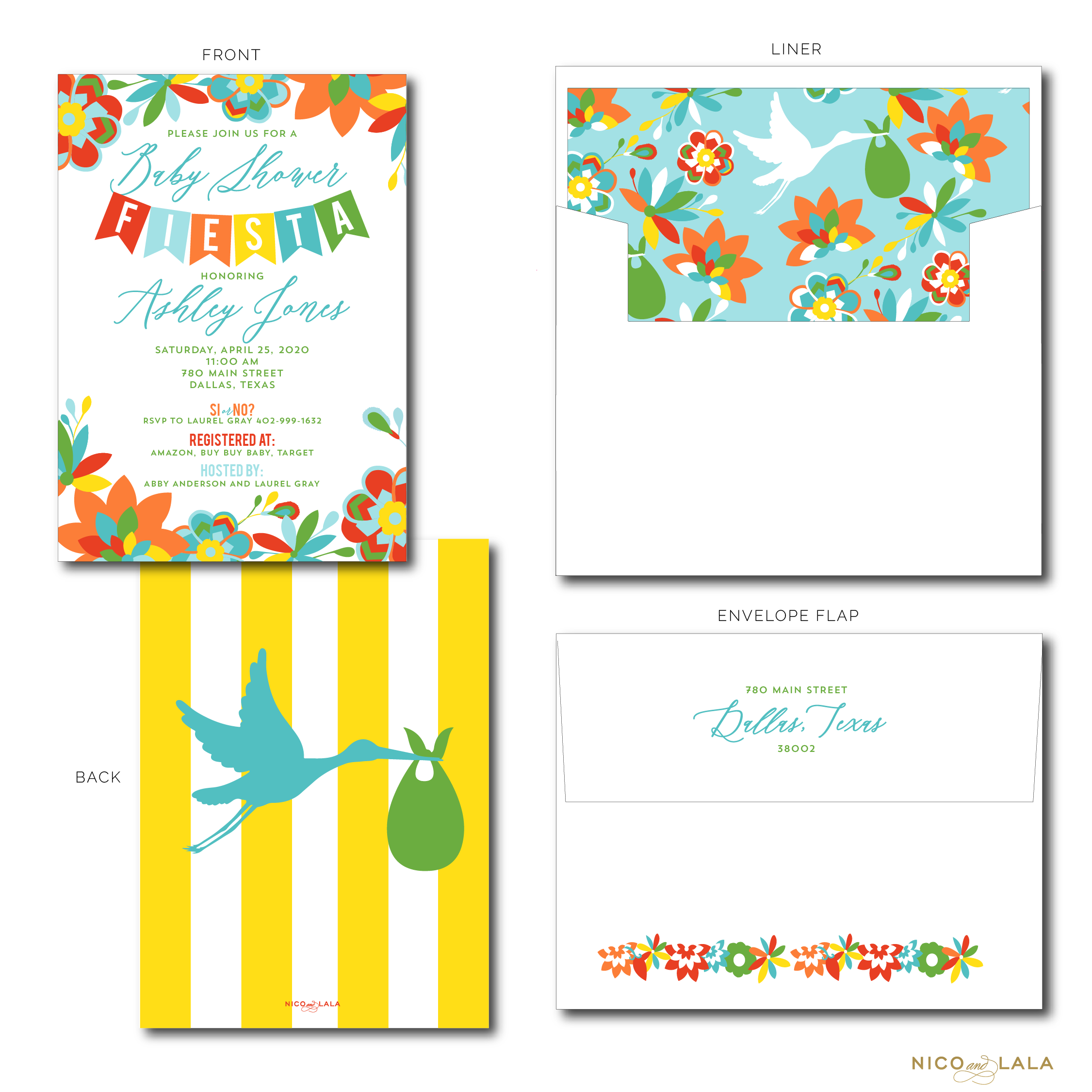 FIESTA BABY SHOWER INVITATIONS