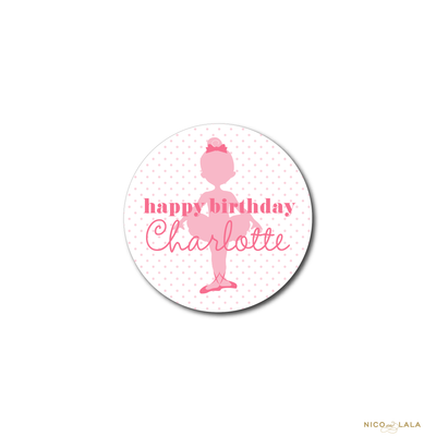 BALLET BIRTHDAY STICKERS