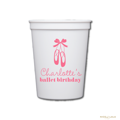 BALLET BIRTHDAY CUPS