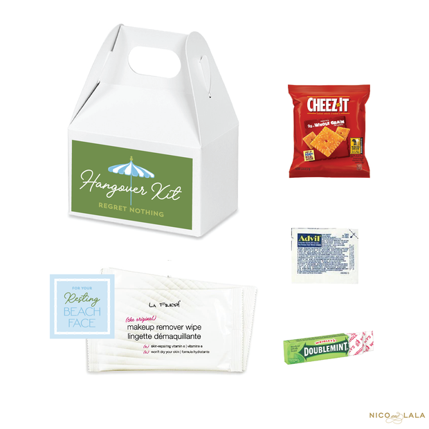 Beach Bachelorette Hangover Kits