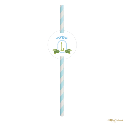 Beach Bachelorette Straws With Tags