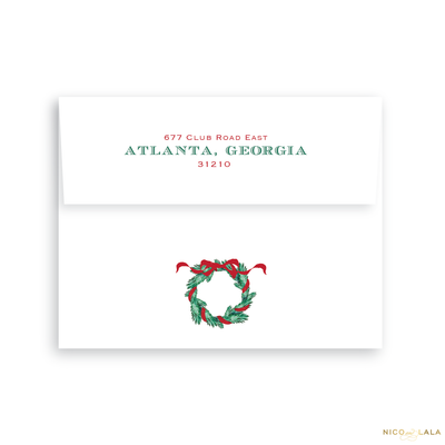 Believe Christmas Card Return Address Printing